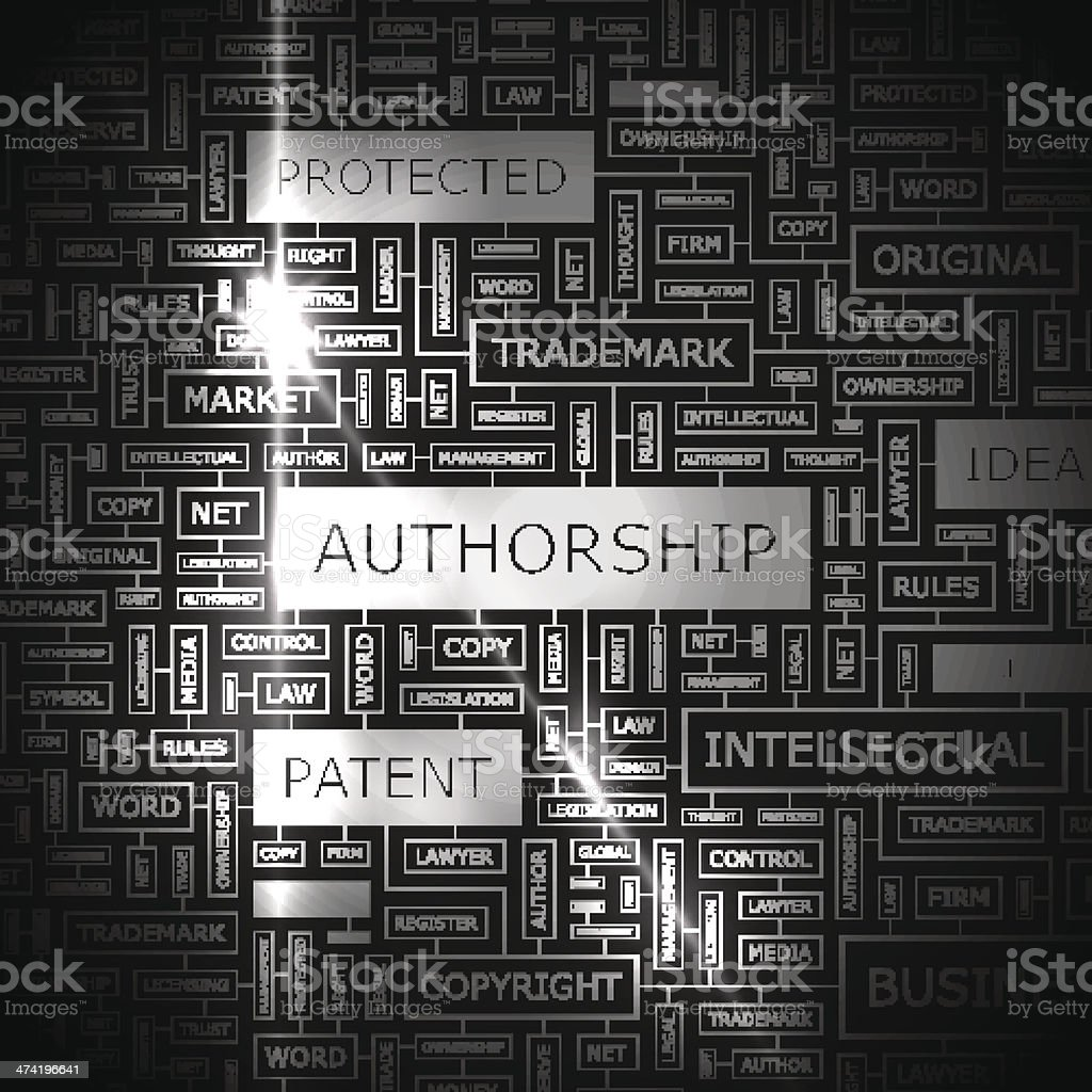 AUTHORSHIP royalty-free stock vector art