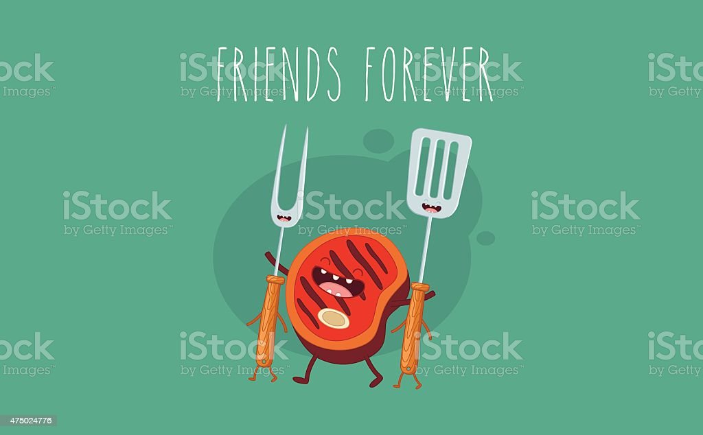 BBQ vector art illustration