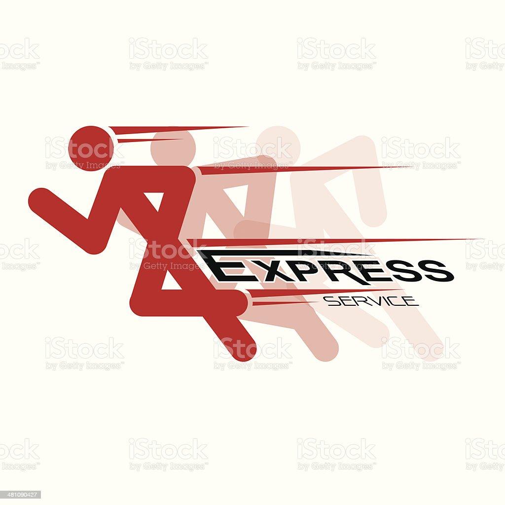 RUNNING VECTOR vector art illustration