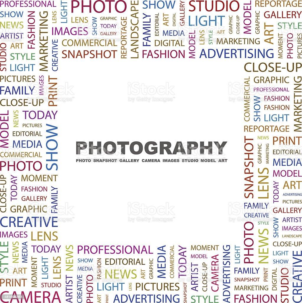 PHOTOGRAPHY vector art illustration
