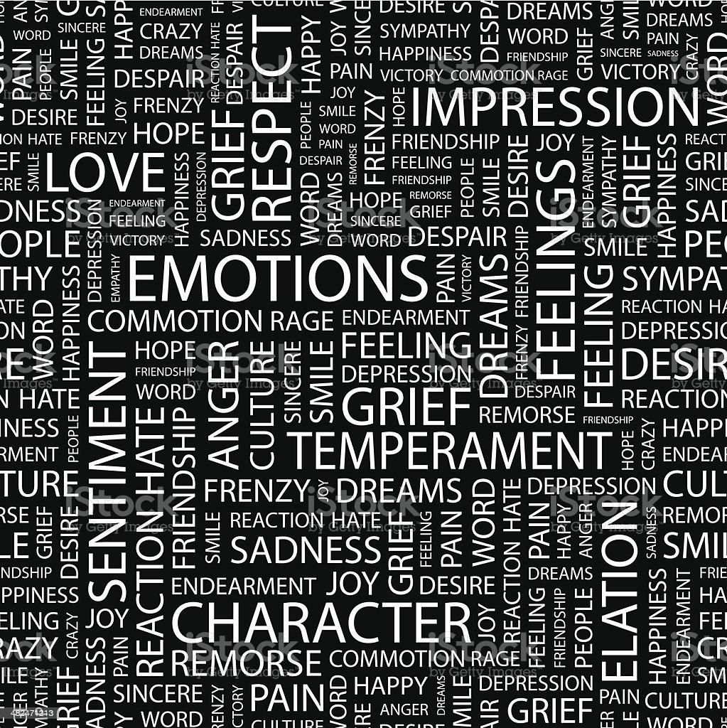 EMOTIONS. royalty-free stock vector art