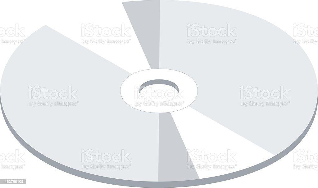 CD/DVD royalty-free stock vector art