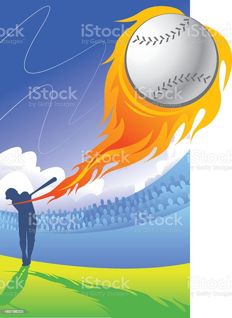 HOMERUN! vector art illustration