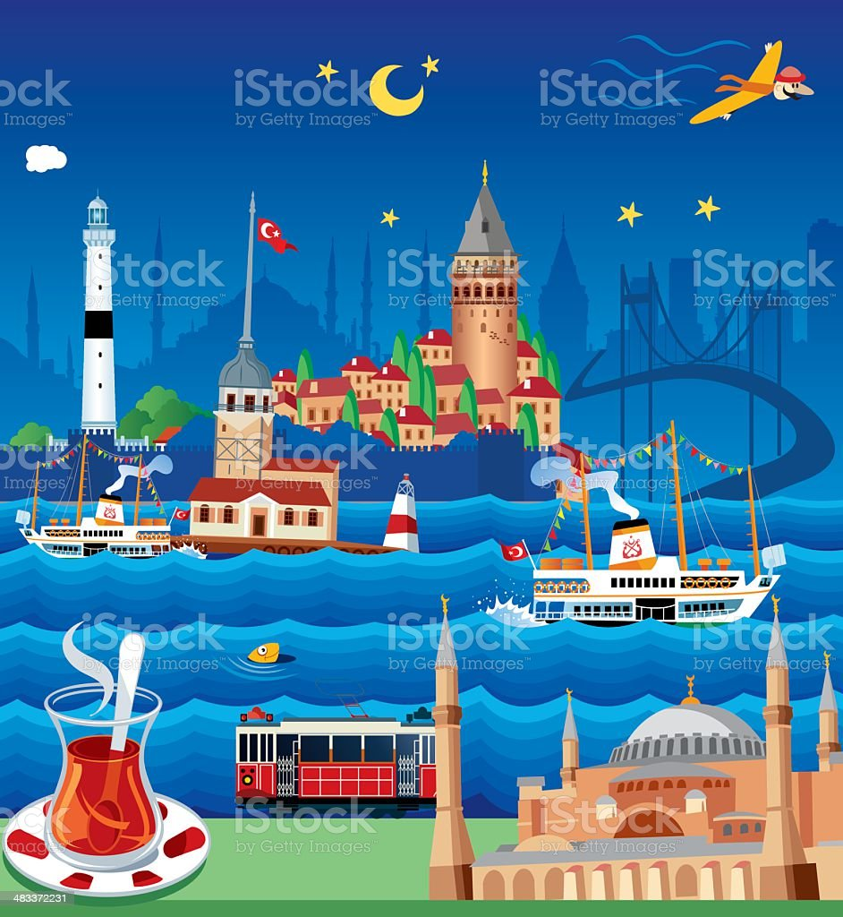 ISTANBUL royalty-free stock vector art