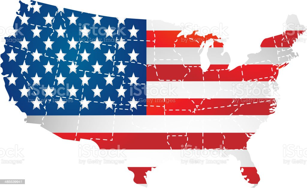USA vector art illustration