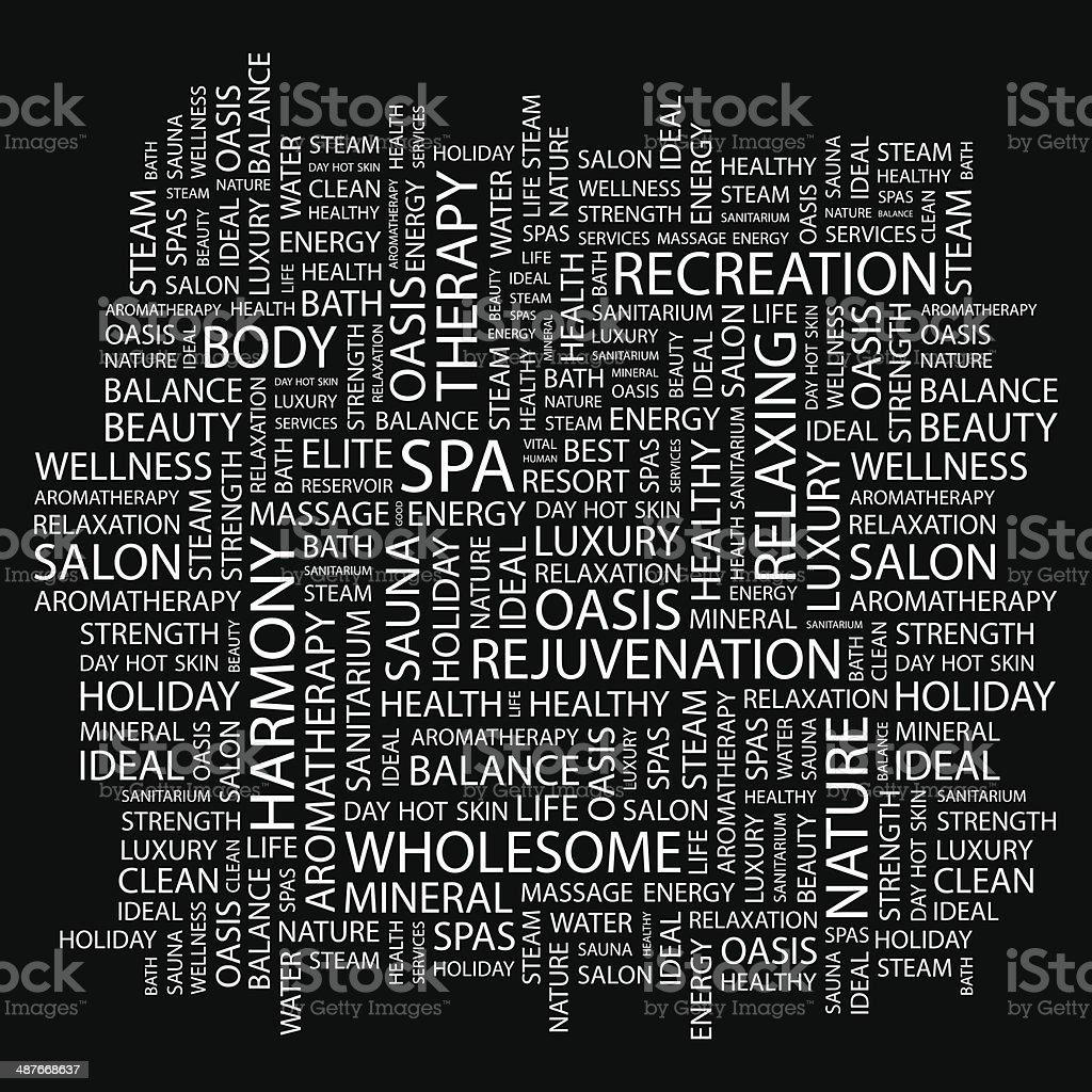 SPA vector art illustration