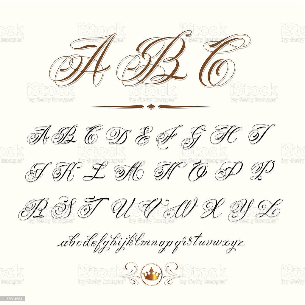 ABC vector art illustration