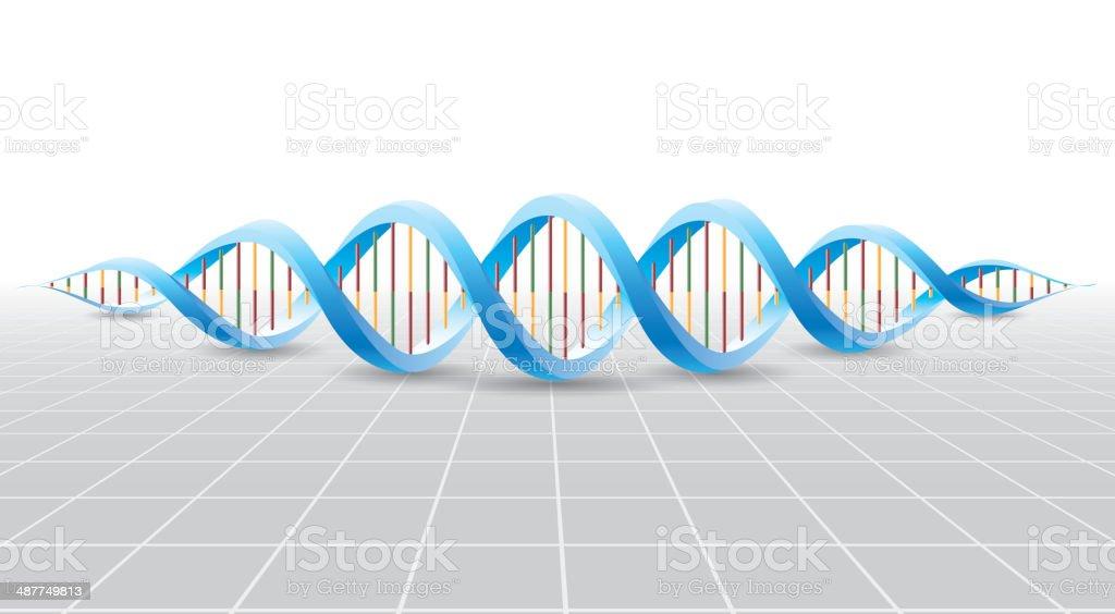 DNA vector art illustration