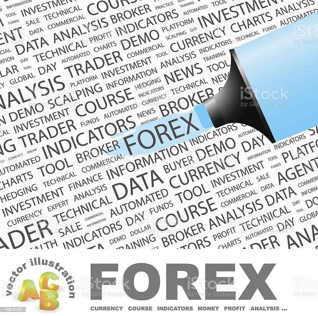 FOREX. vector art illustration