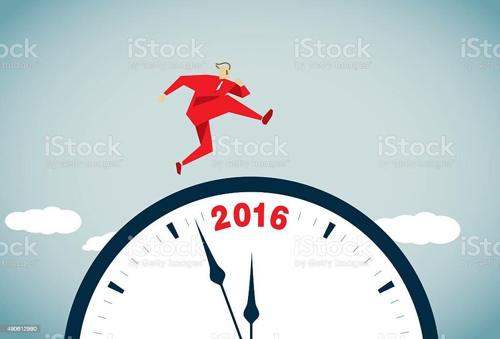2016 vector art illustration