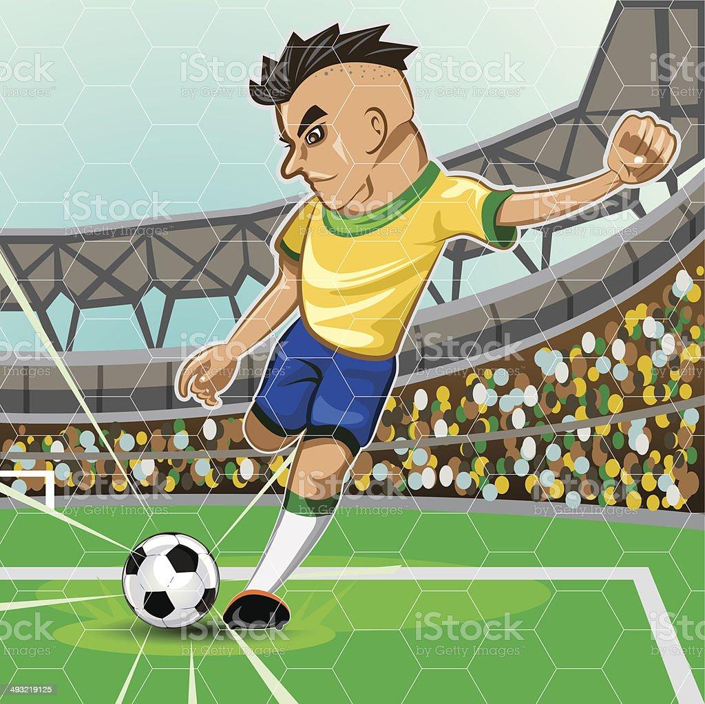 BRAZIL SOCCER vector art illustration