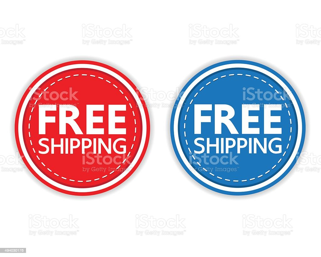 FREE SHIPPING vector art illustration