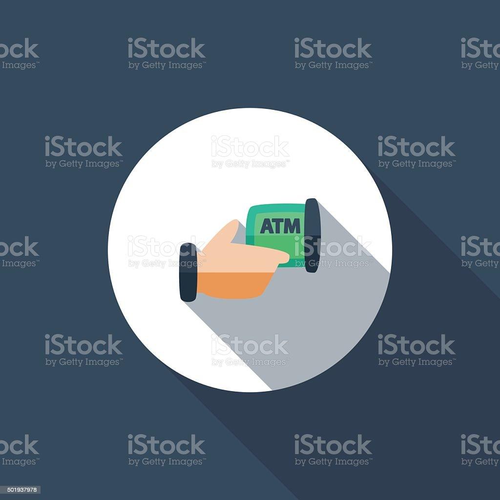 ATM vector art illustration
