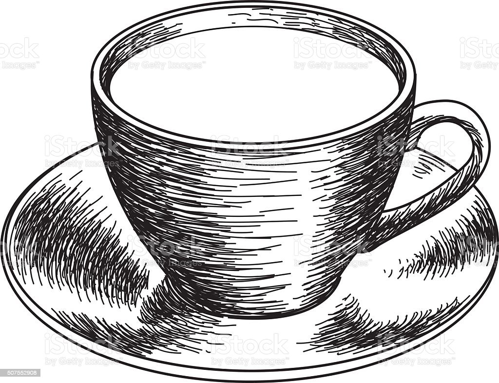 SKETCHY COFFEE vector art illustration