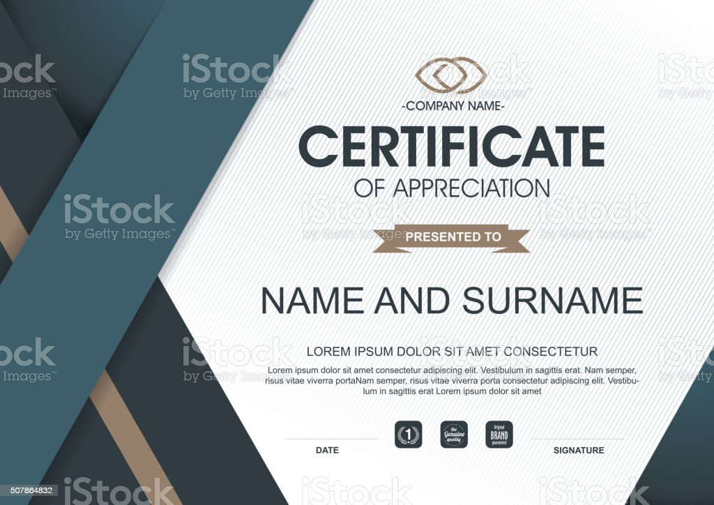 CERTIFICATE 213 vector art illustration