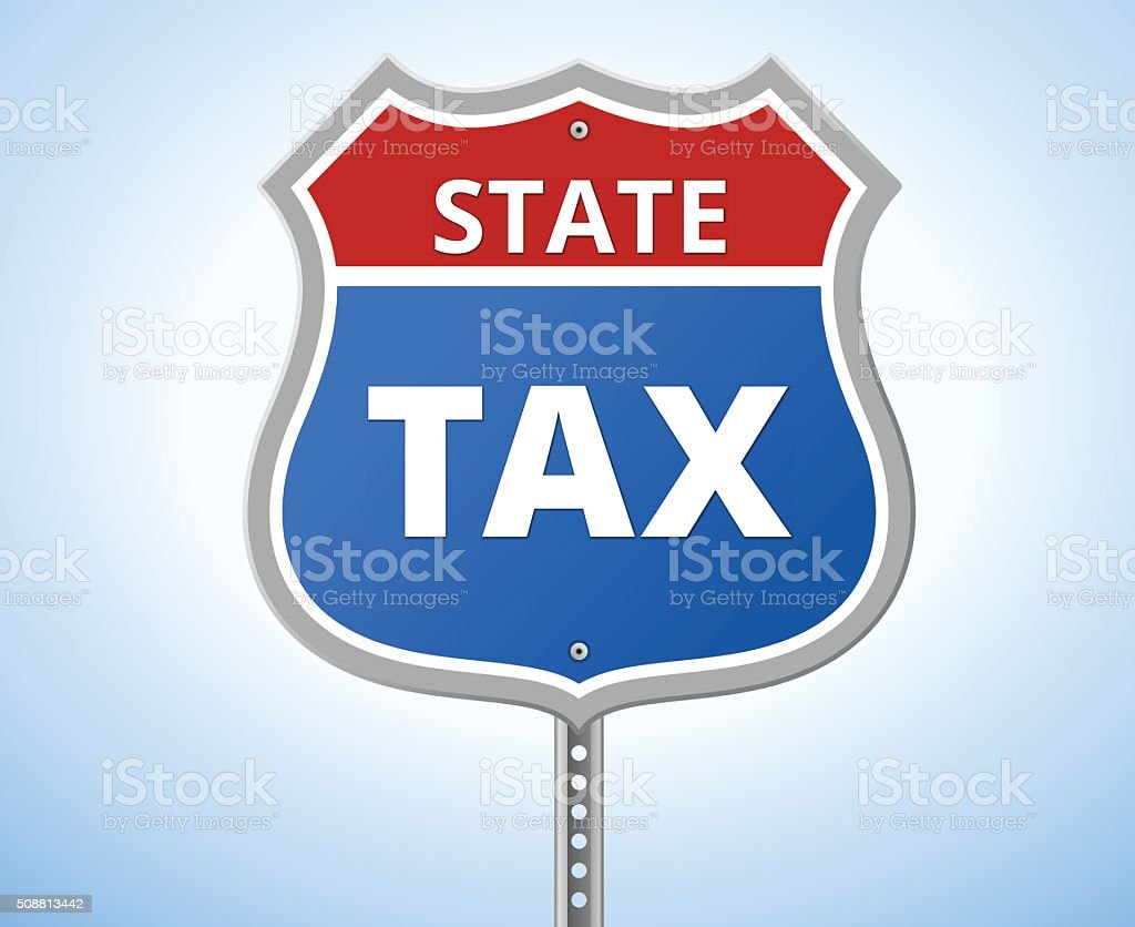 STATE TAX ROUTE SIGN vector art illustration