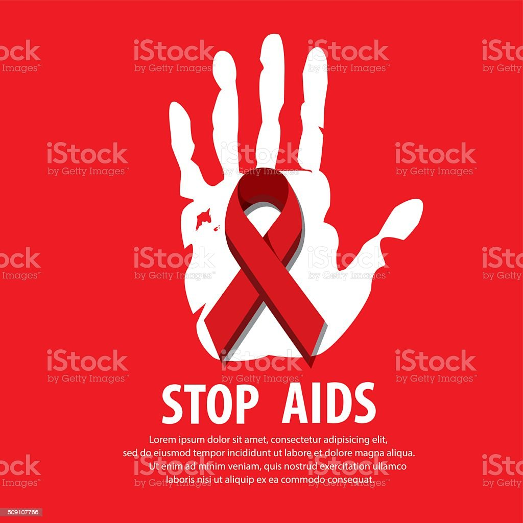 STOP AIDS. vector art illustration