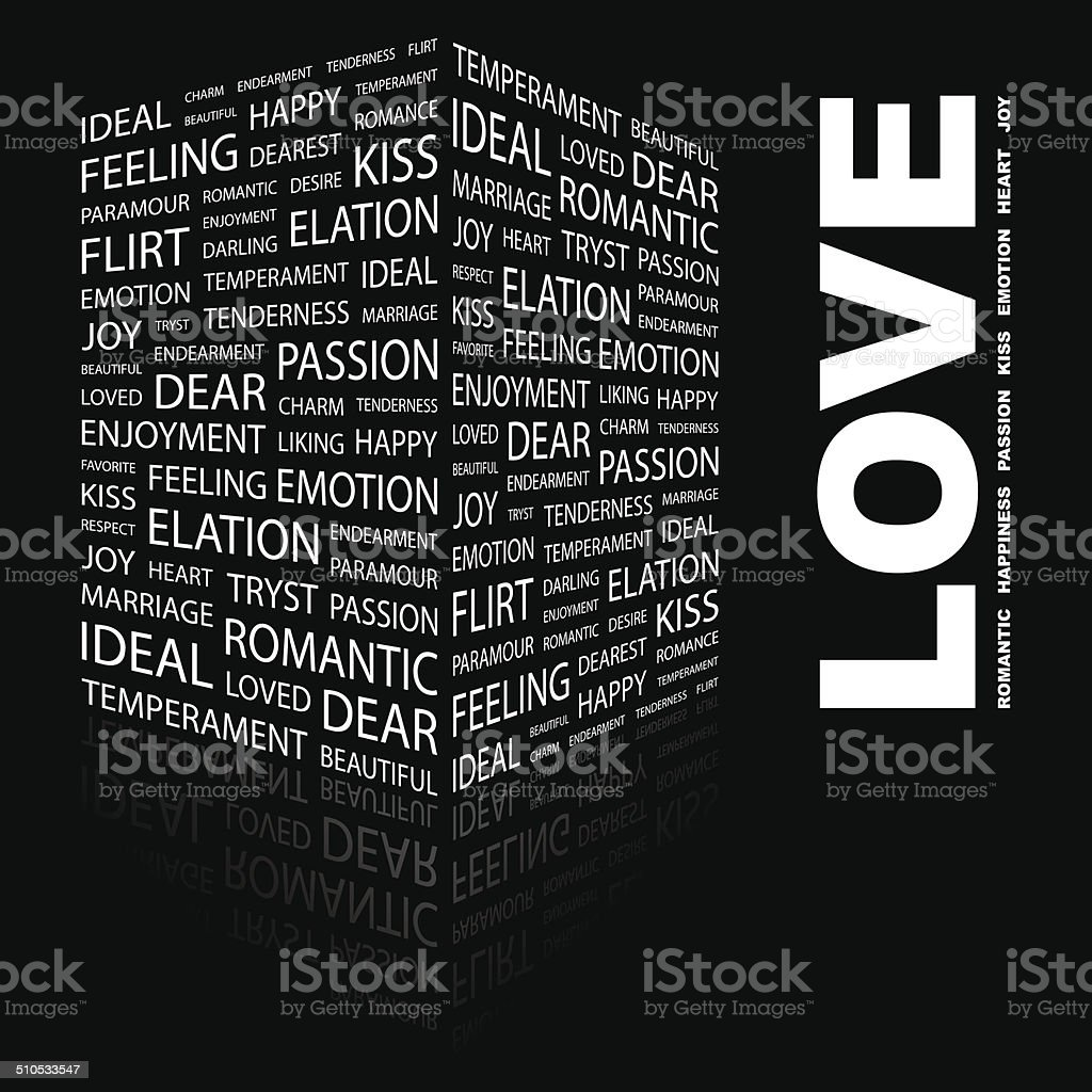 LOVE. vector art illustration