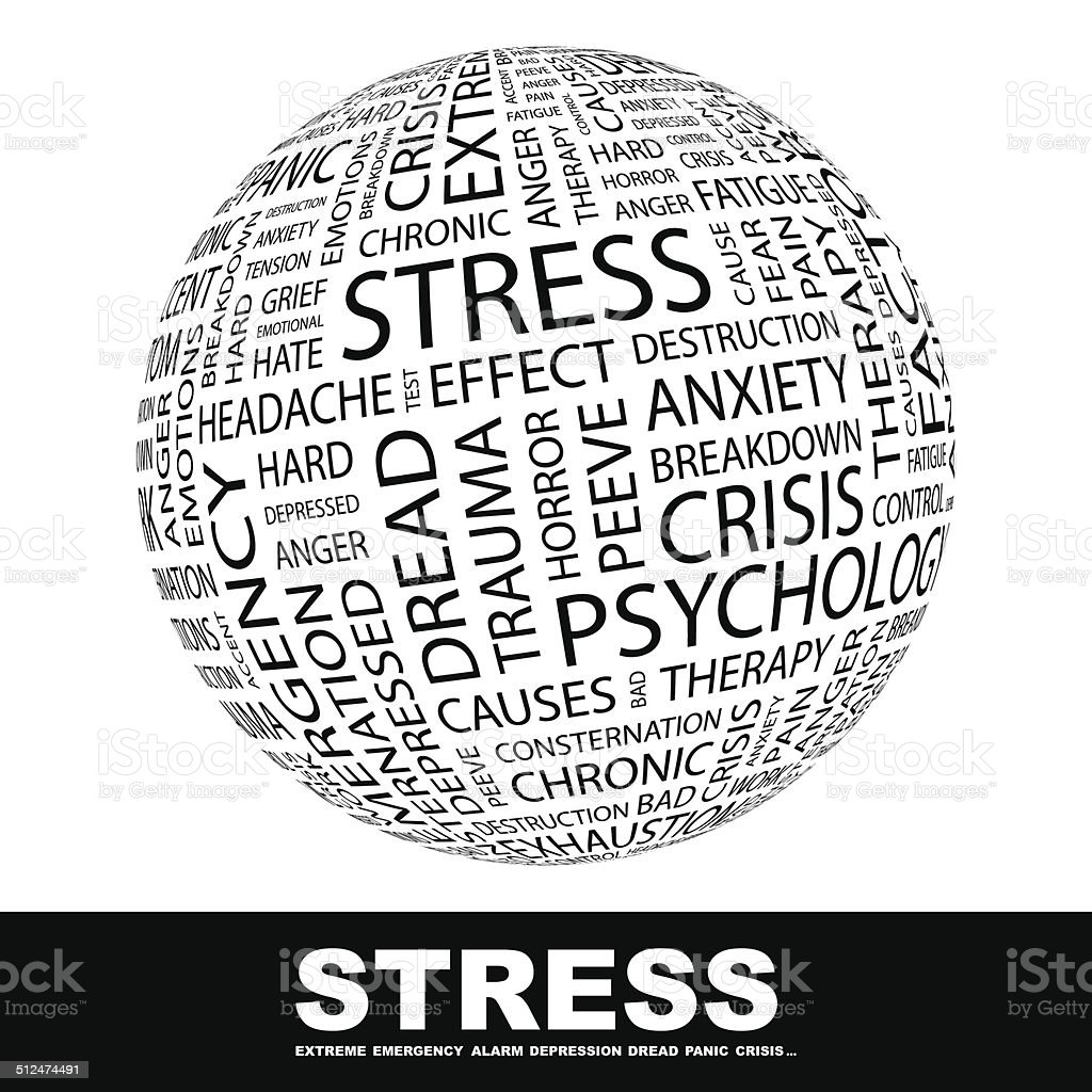 STRESS vector art illustration