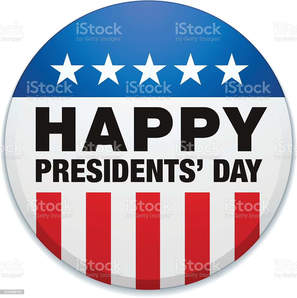 HAPPY PRESIDENTS' DAY vector art illustration