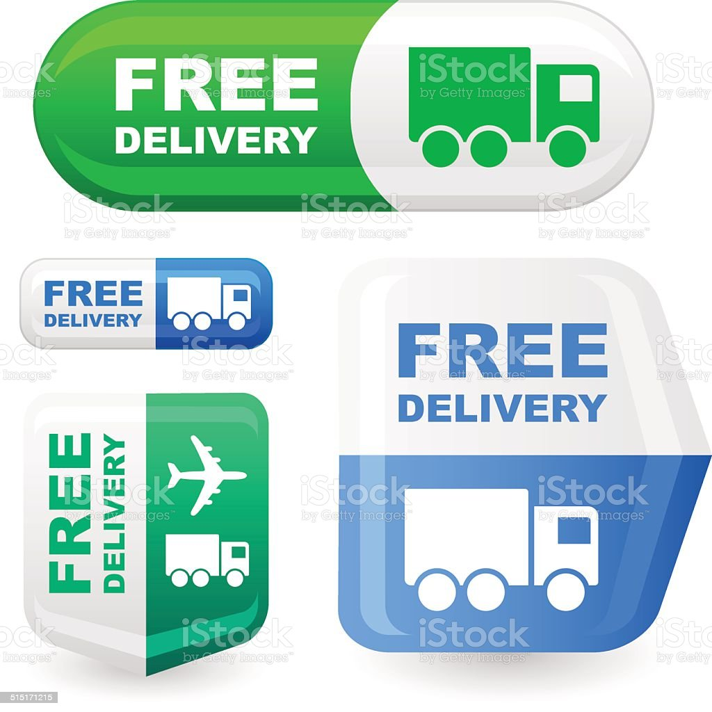 FREE DELIVERY vector art illustration
