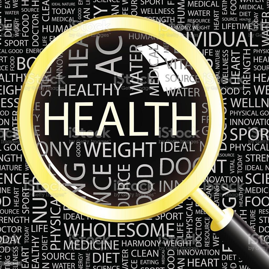 HEALTH vector art illustration