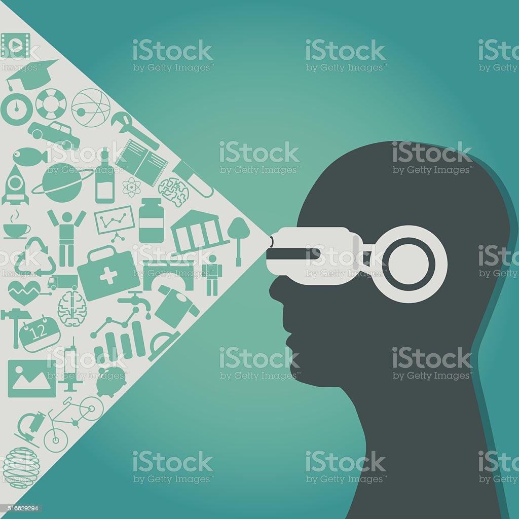 VR vector art illustration