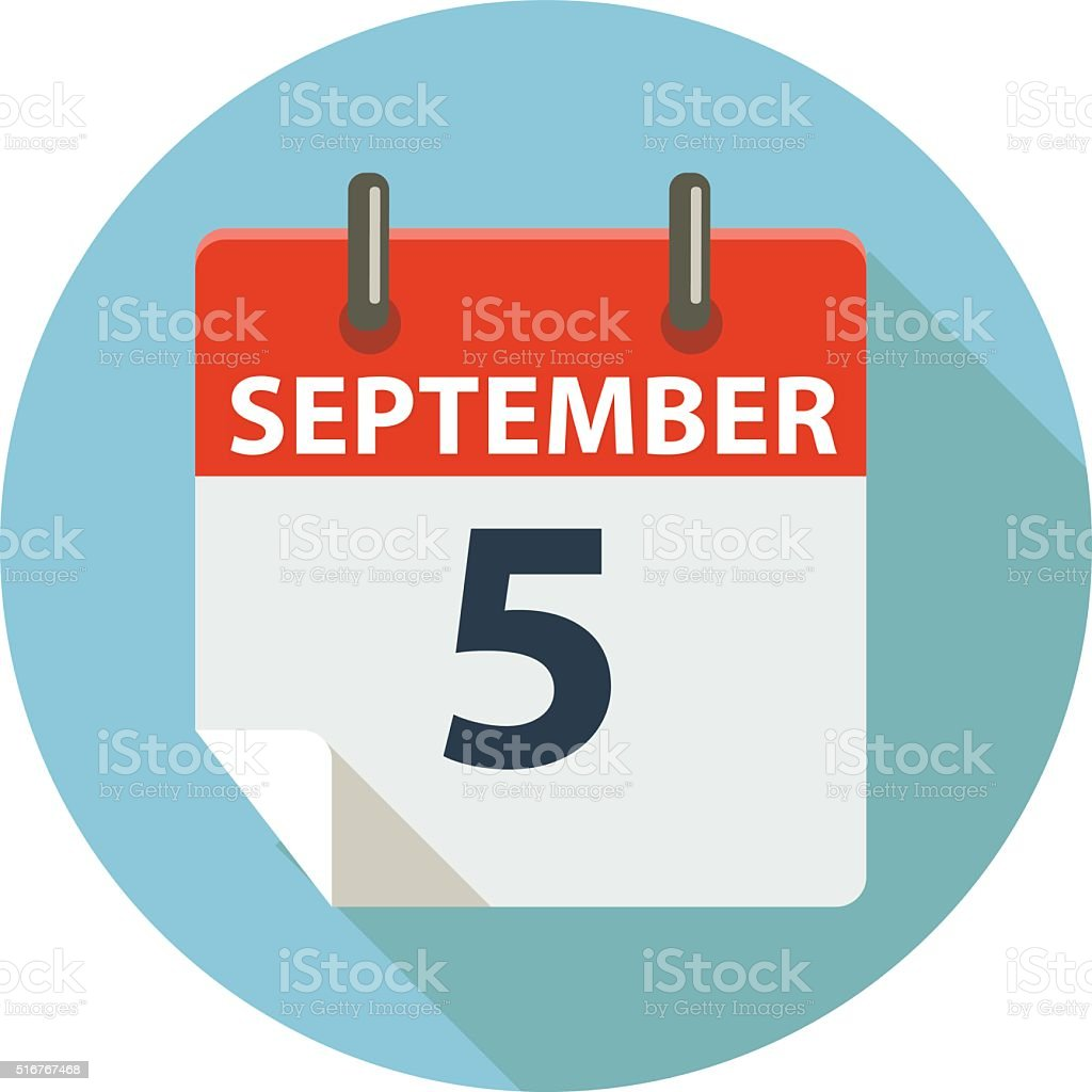 SEPTEMBER 5 vector art illustration