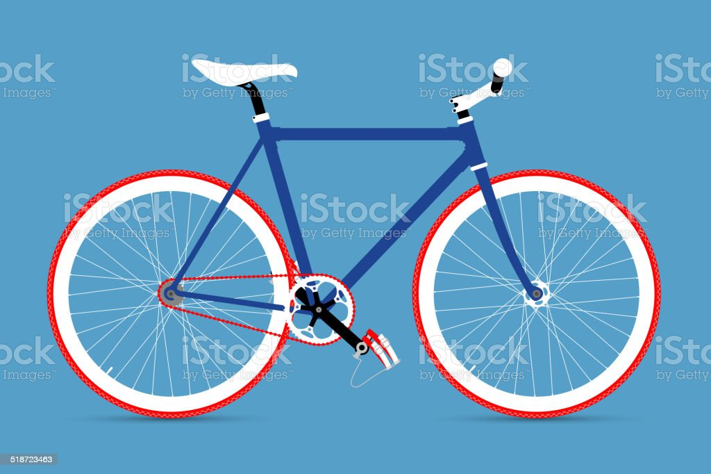 FIXED GEAR BICYCLE vector art illustration