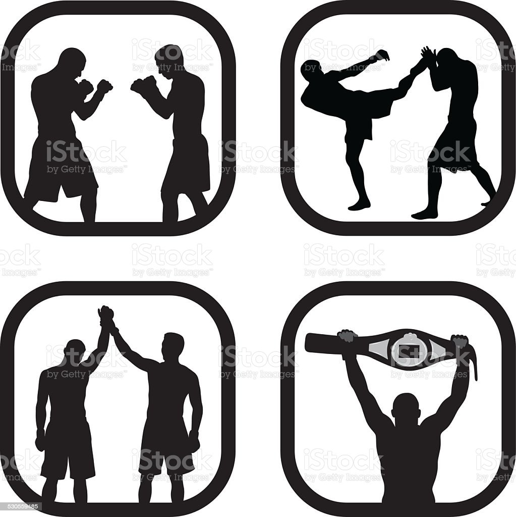 MMA vector art illustration