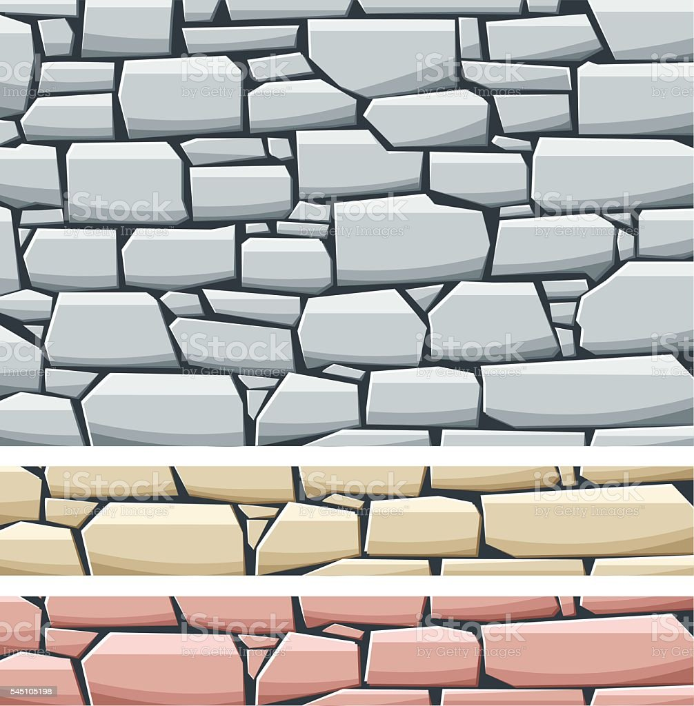 STONE WALL vector art illustration