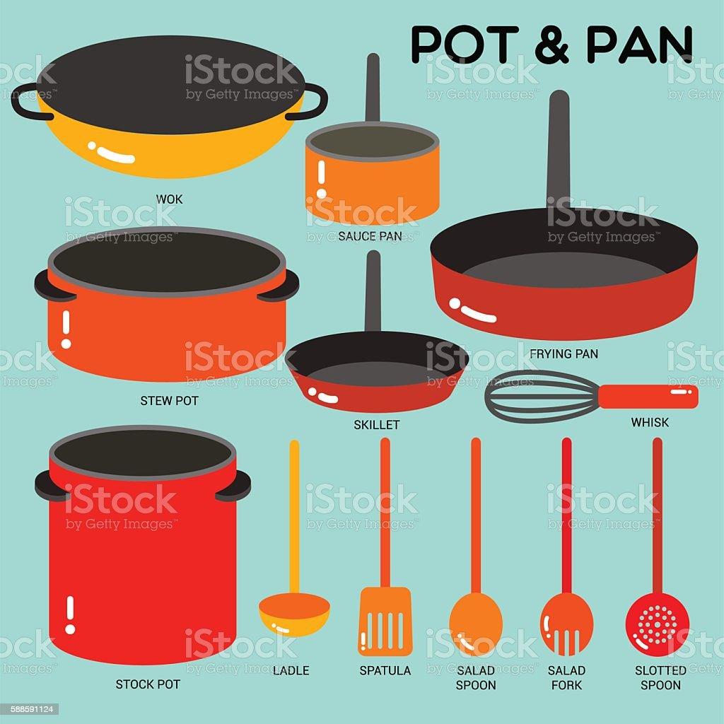 POT&PAN vector art illustration