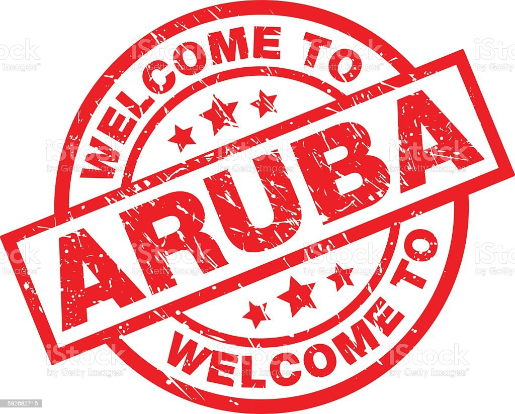 WELCOME TO ARUBA vector art illustration