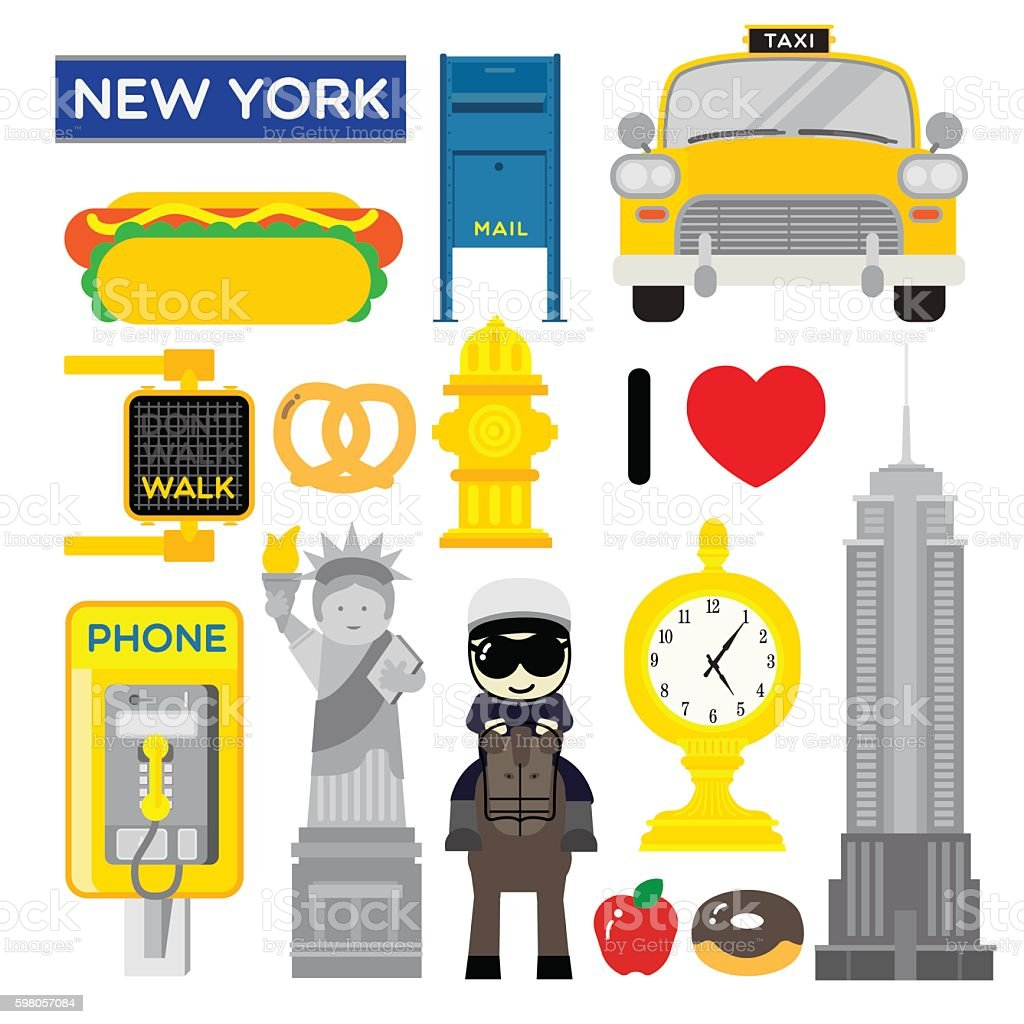 NEWYORK 2 vector art illustration