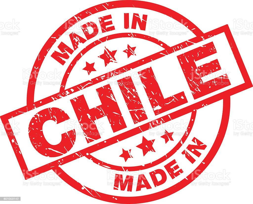 MADE IN CHILE vector art illustration