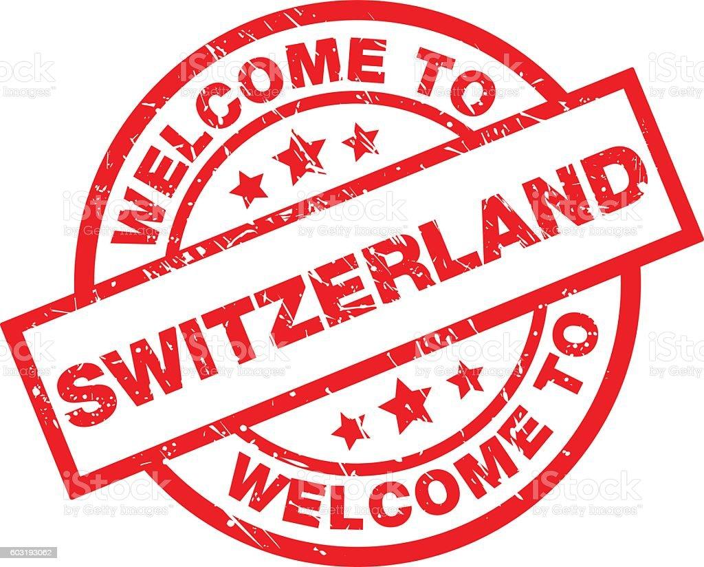 WELCOME TO SWITZERLAND vector art illustration