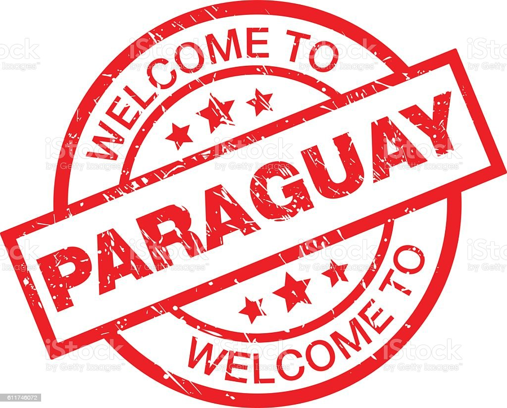 WELCOME TO PARAGUAY vector art illustration