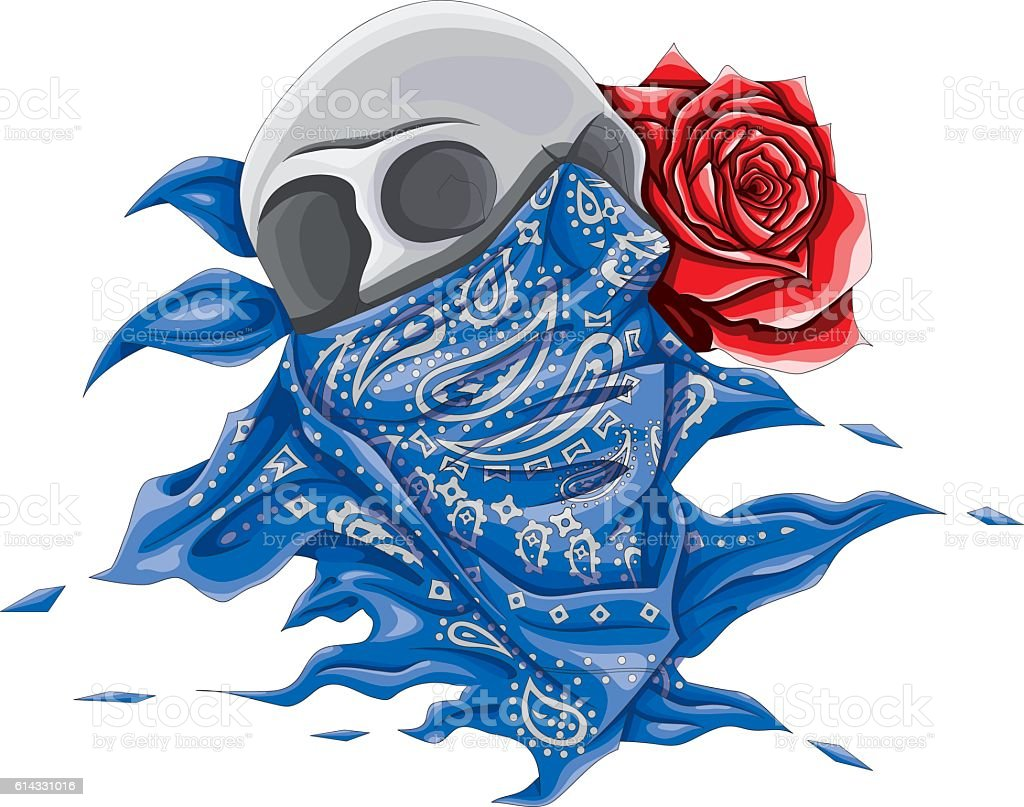 TESCHIO BANDANA vector art illustration