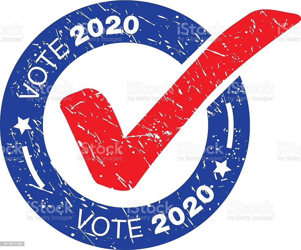 VOTE 2020 vector art illustration