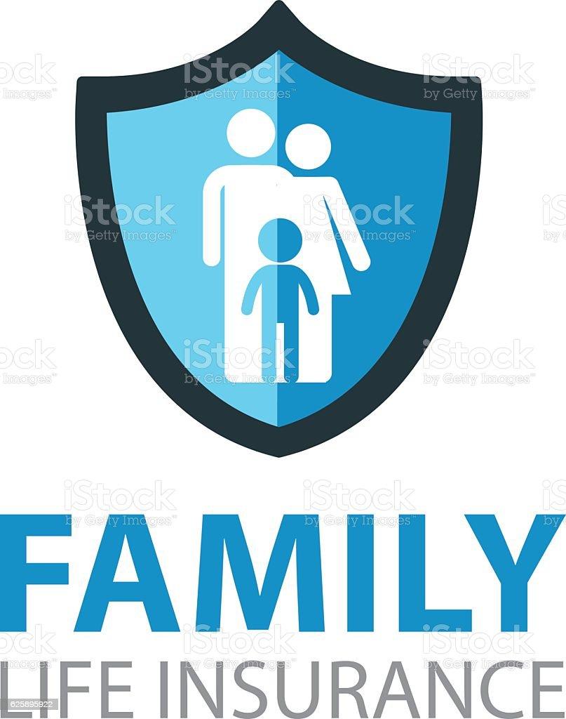 FAMILY LIFE INSURANCE vector art illustration