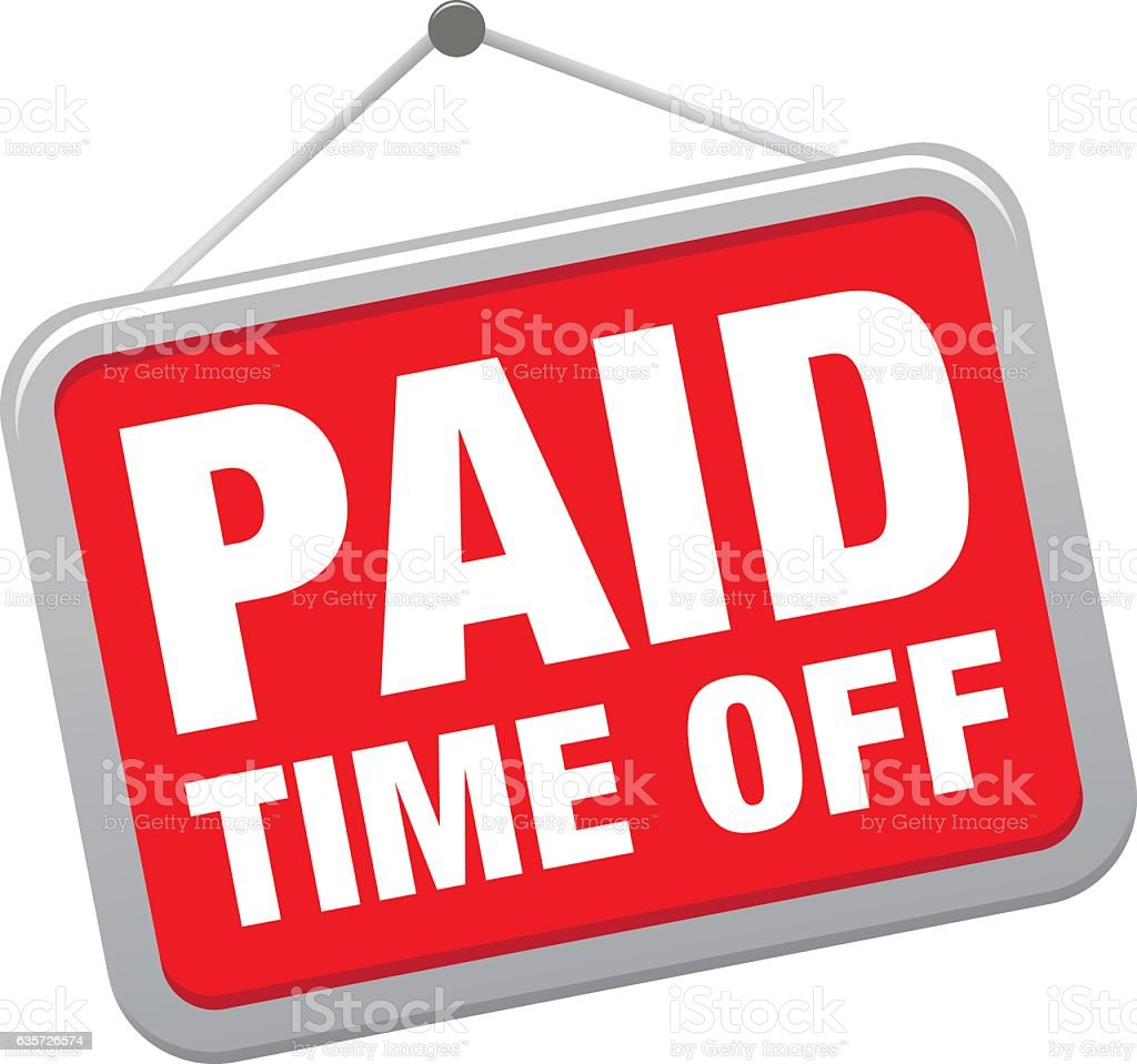 PAID TIME OFF vector art illustration