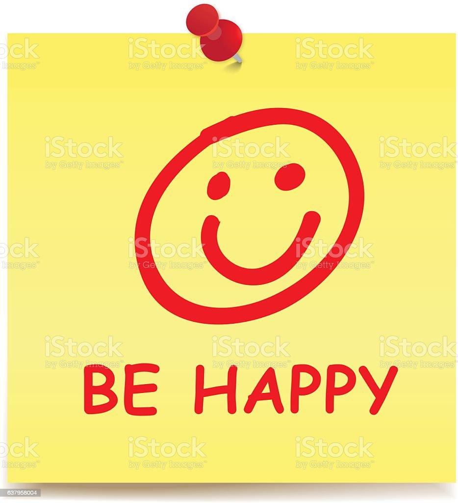 BE HAPPY vector art illustration