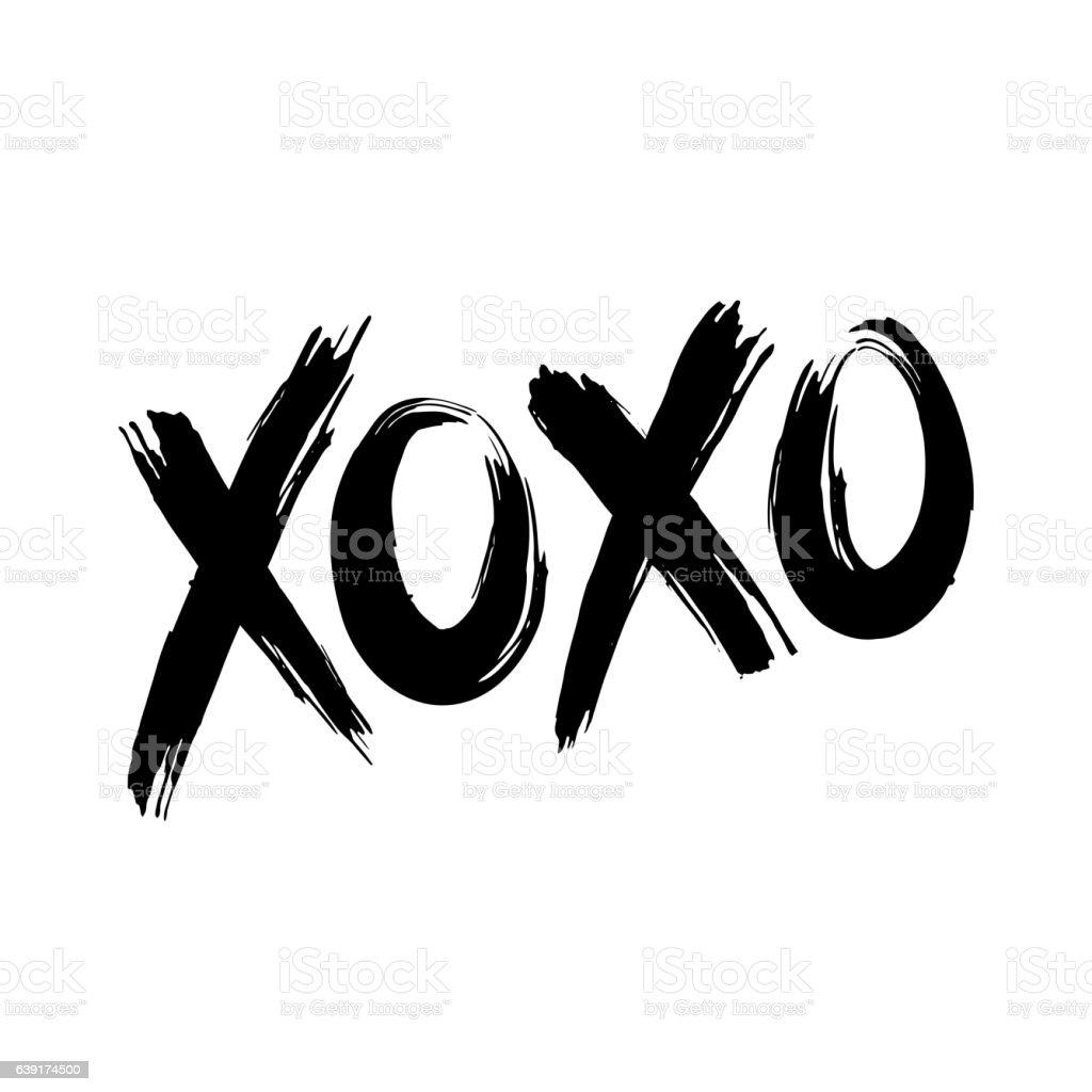 XOXO (hugs and kisses) vector art illustration