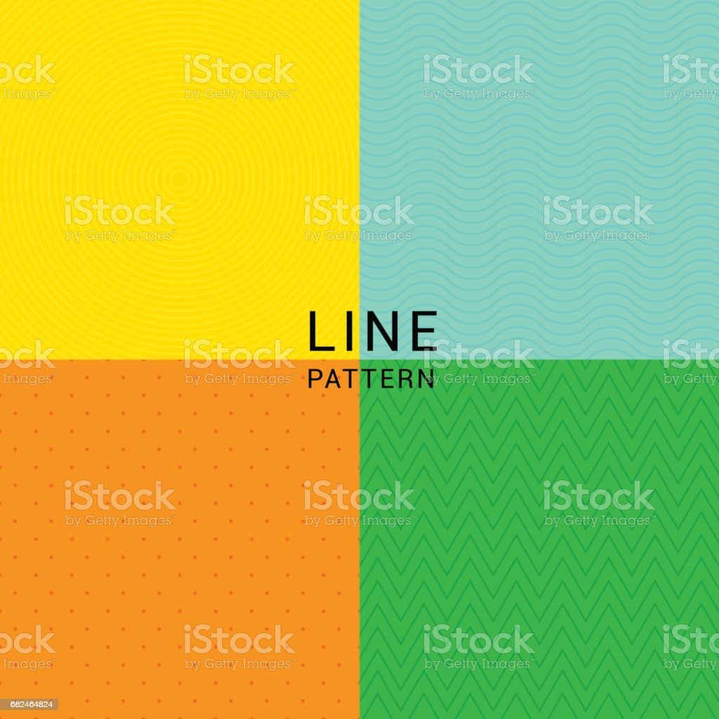LINE PATTERN vector art illustration