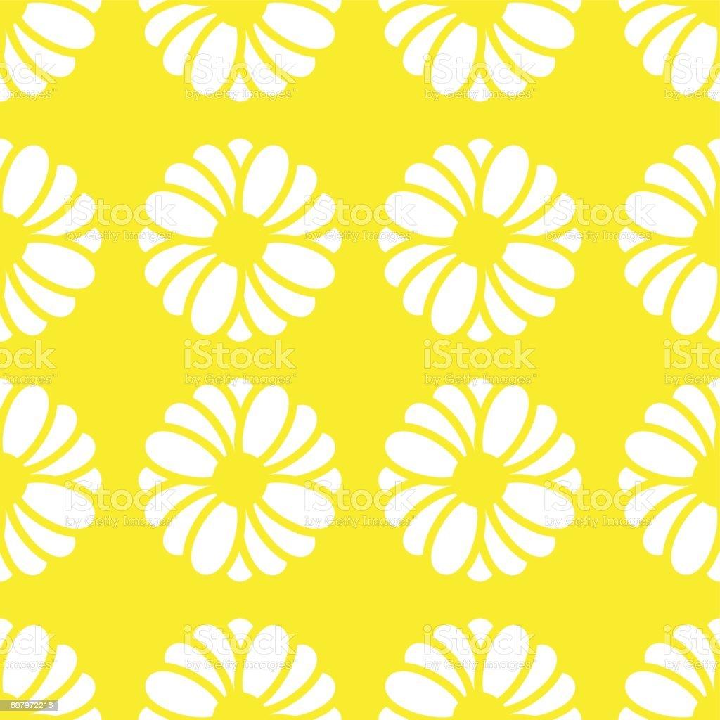 YELLOW FLOWER PATTERN vector art illustration
