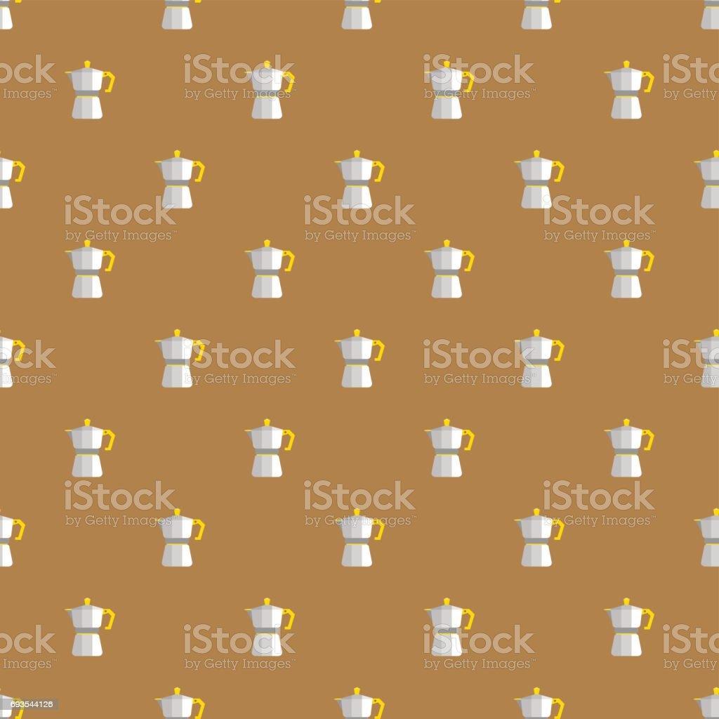 COFFEE MAKER PATTERN vector art illustration