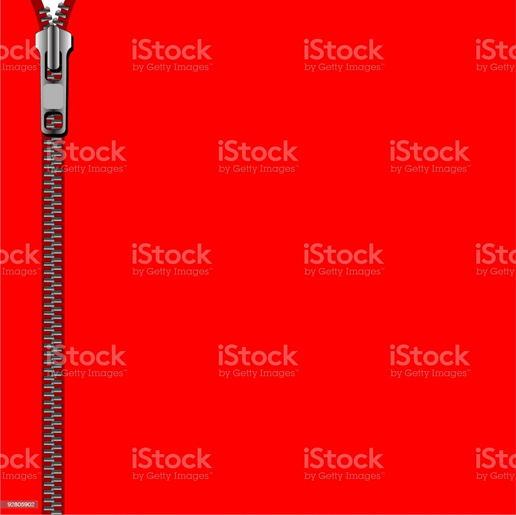 RED ZIPPED BACKGROUND (Vector) vector art illustration