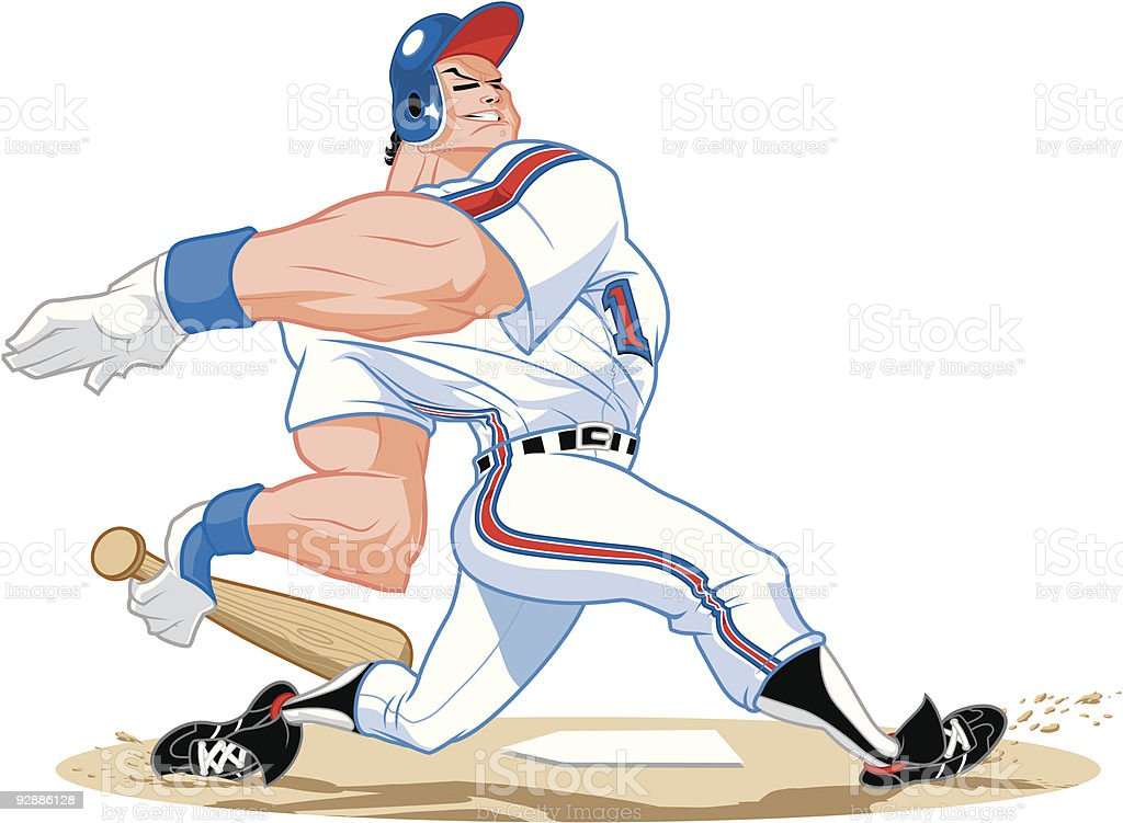 HOMERUN HITTER royalty-free stock vector art