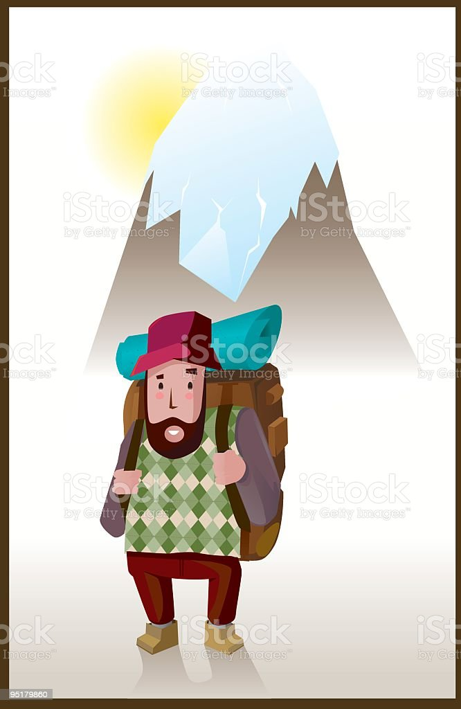 TRIPPER IN THE MONTAIN royalty-free stock vector art