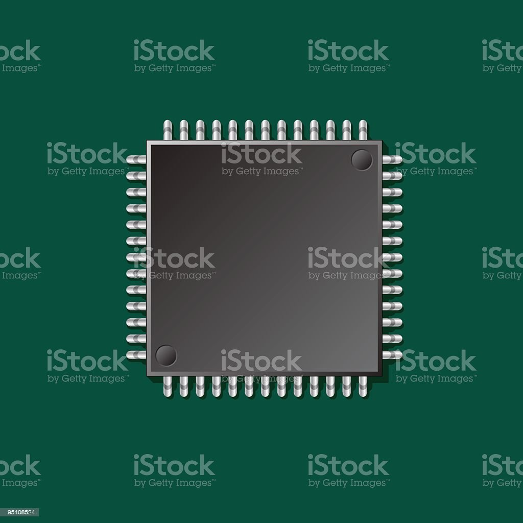 CPU royalty-free stock vector art